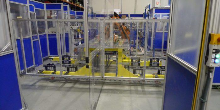 Zona automática carga pallets por filoguiado