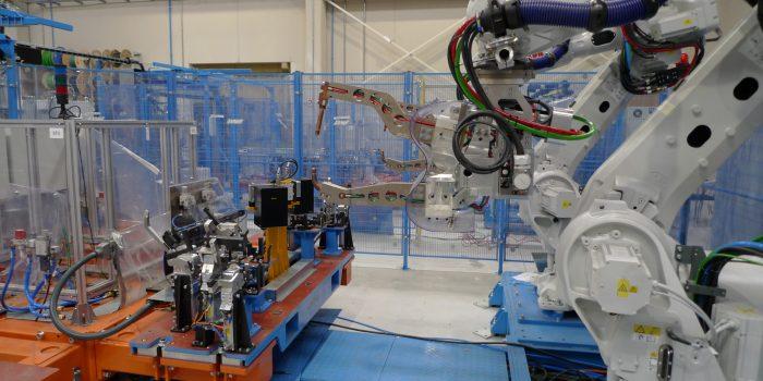 Zona robots isla estándar, pinza Serra