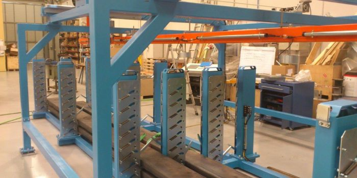 Buffer in the process of manufacturing beams