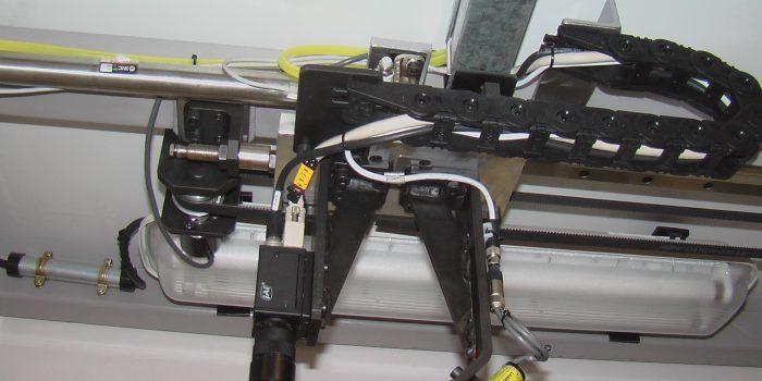 Conjunto de captura para triangulacion laser en detalle