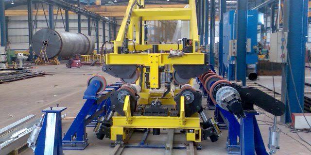 Maquina de fabricacion de depositos pesados de acero inoxidable