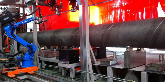 Interior soldadura de torque tube solar