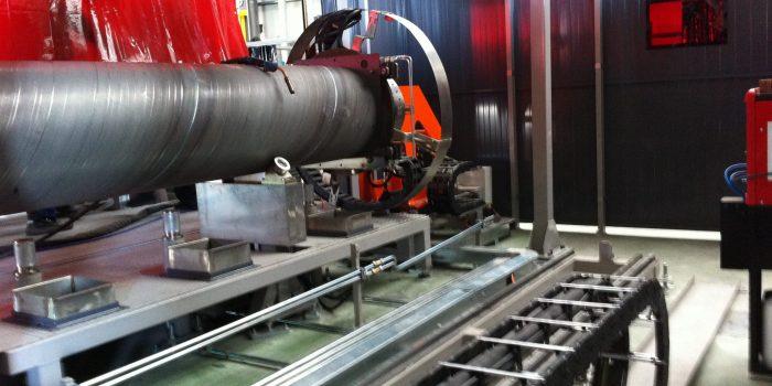 detalle track soldadura torque tube
