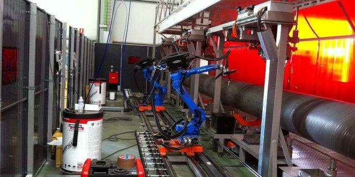 Robot de corte con plasma y soldadura