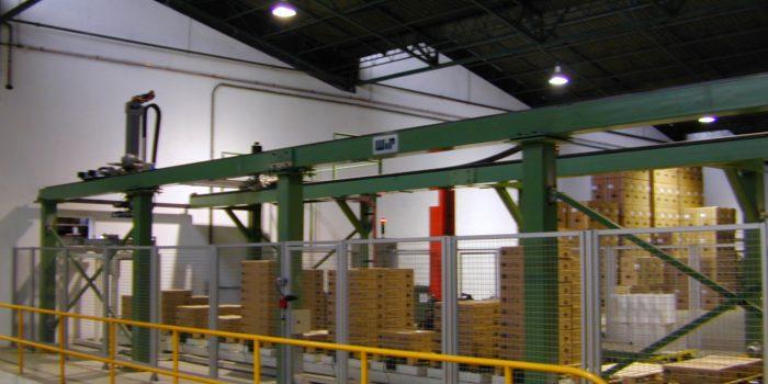CNC 4 ejes paletizado 18 x 5 m