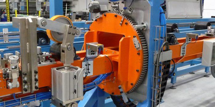 Posicionador de larguero en maquina de corte por laser