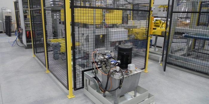 Zona de prensa en linea de evaporadores
