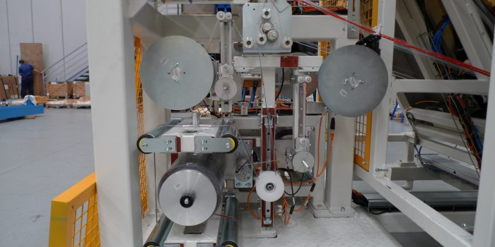Adhesive tape feed control system